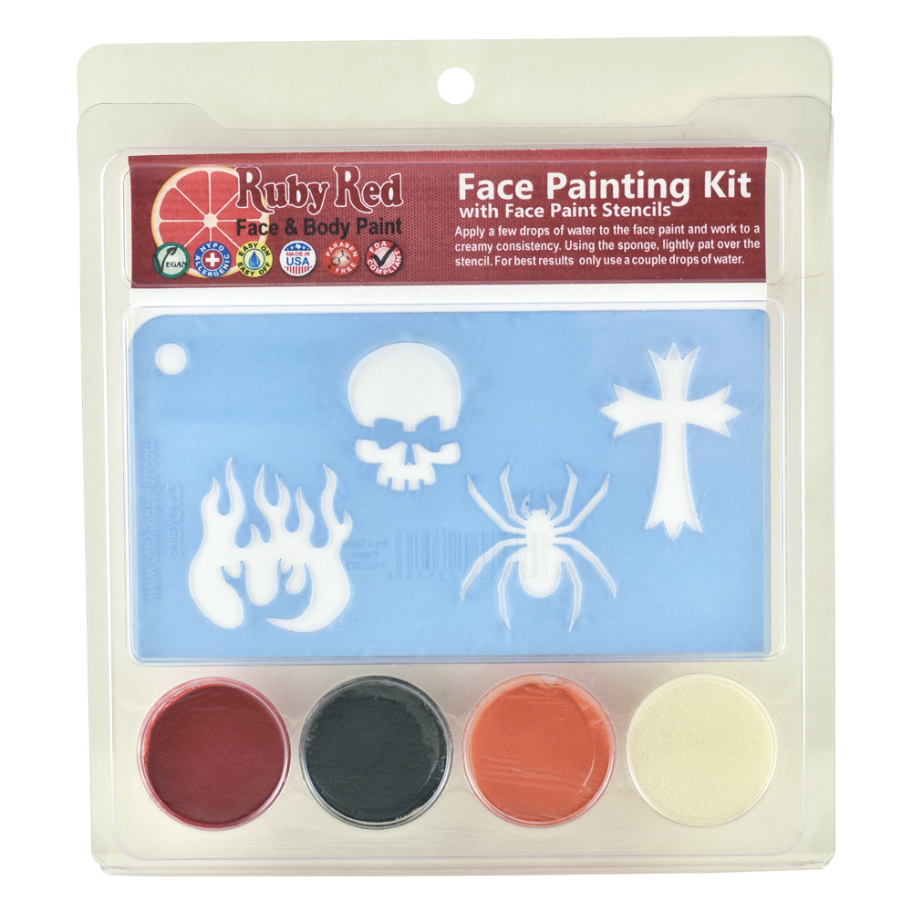 Ruby Red Boy Stamp Face Paint Kit