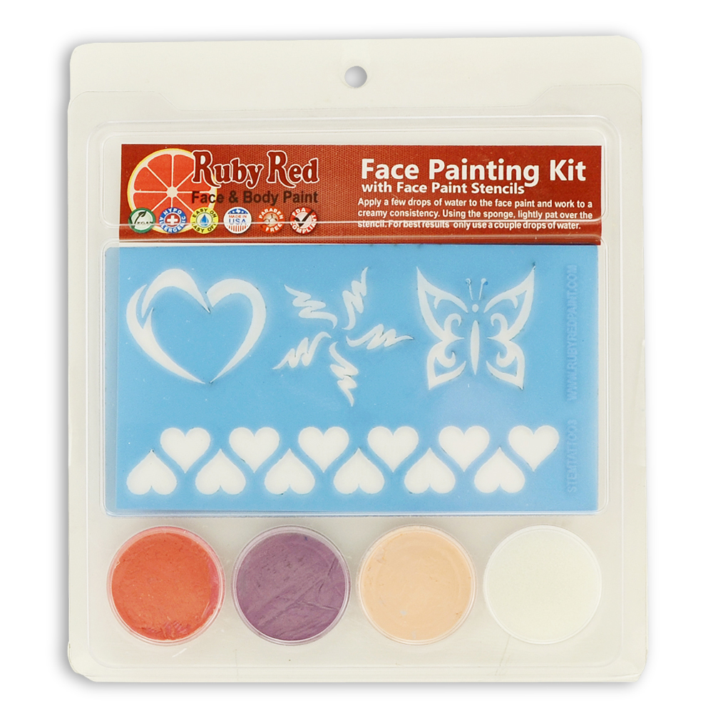 Ruby Red Girl Stamp Face Paint Kit