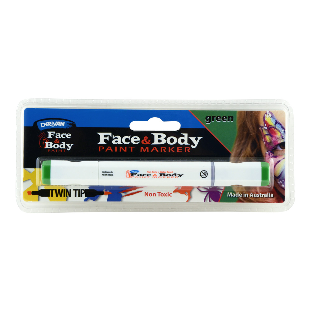 Derivan Face&Body Twintip Paint Marker Green