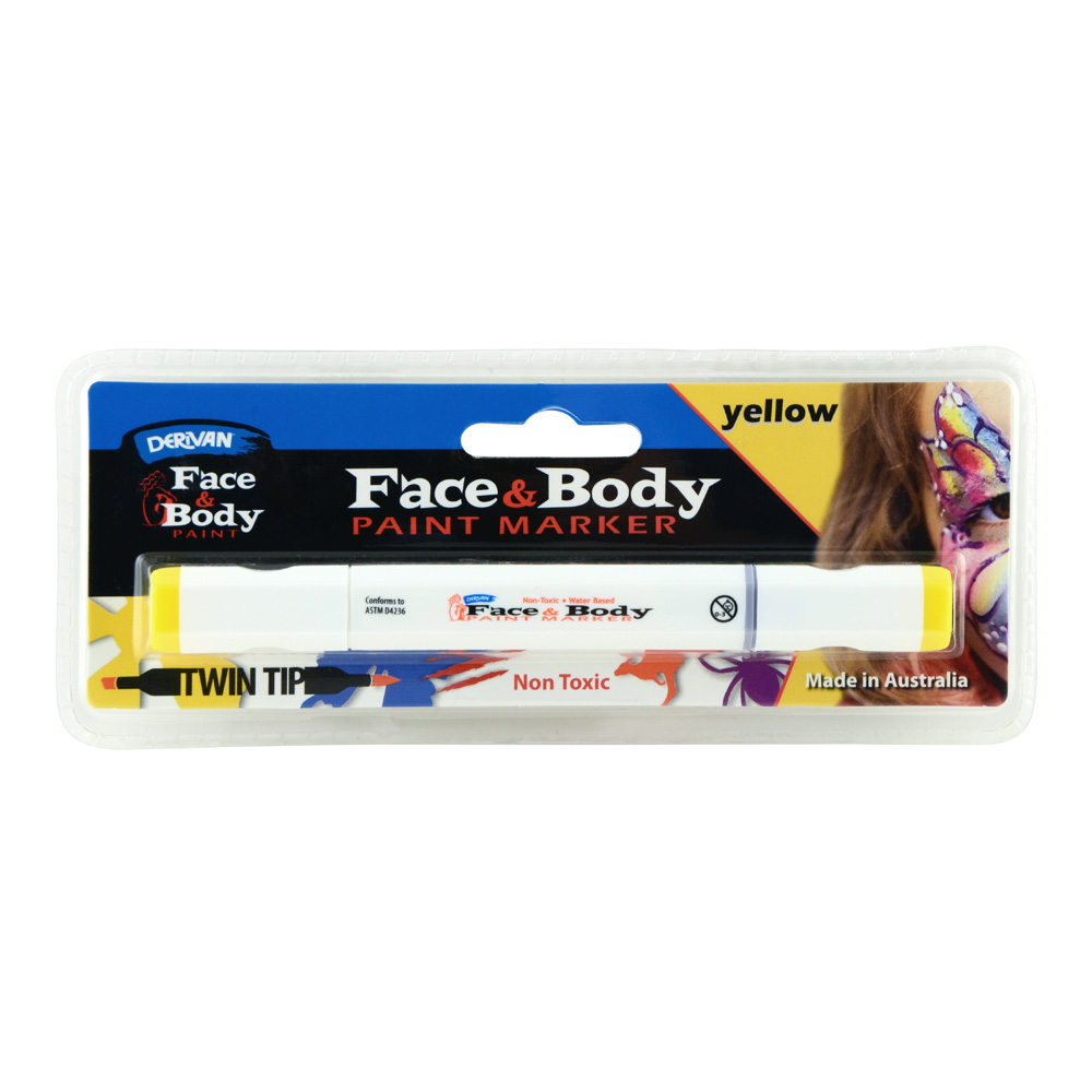 Derivan Face&Body Twintip paint Marker Yellow