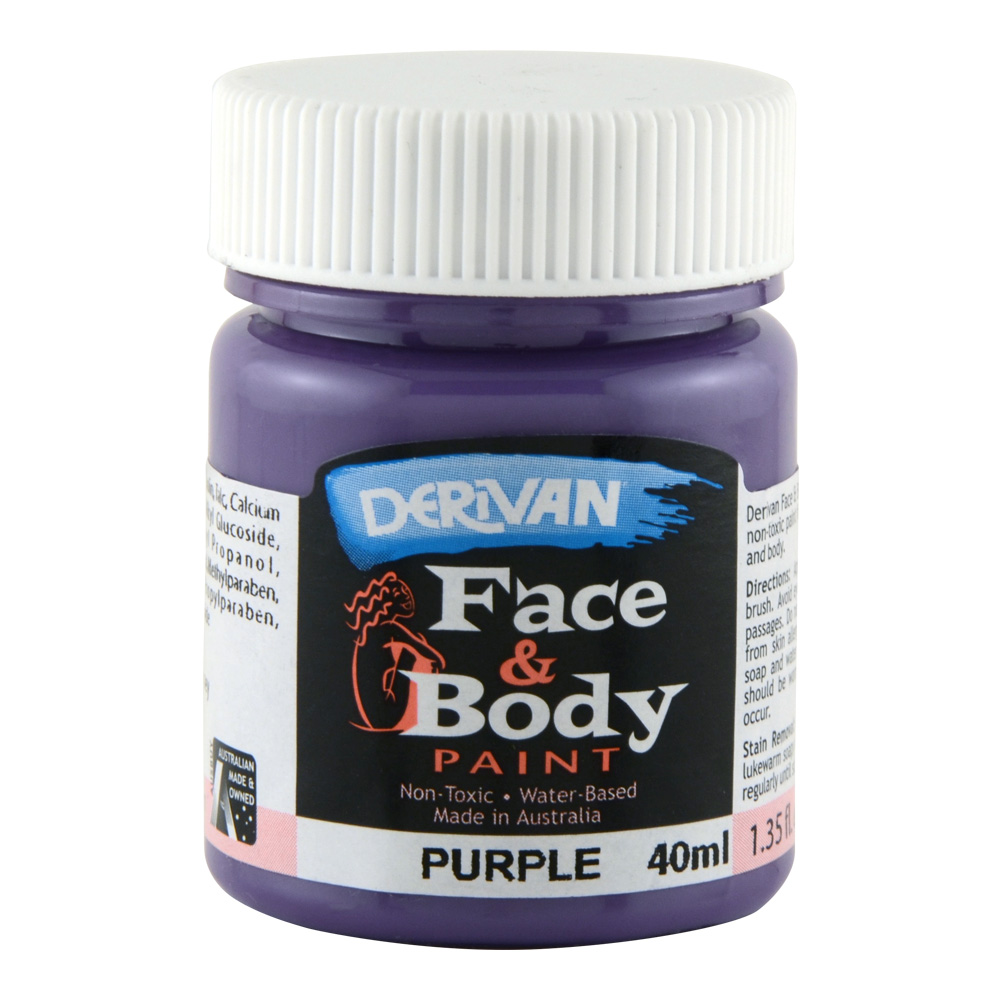 Derivan Face & Body Paint 40ml Jar Purple