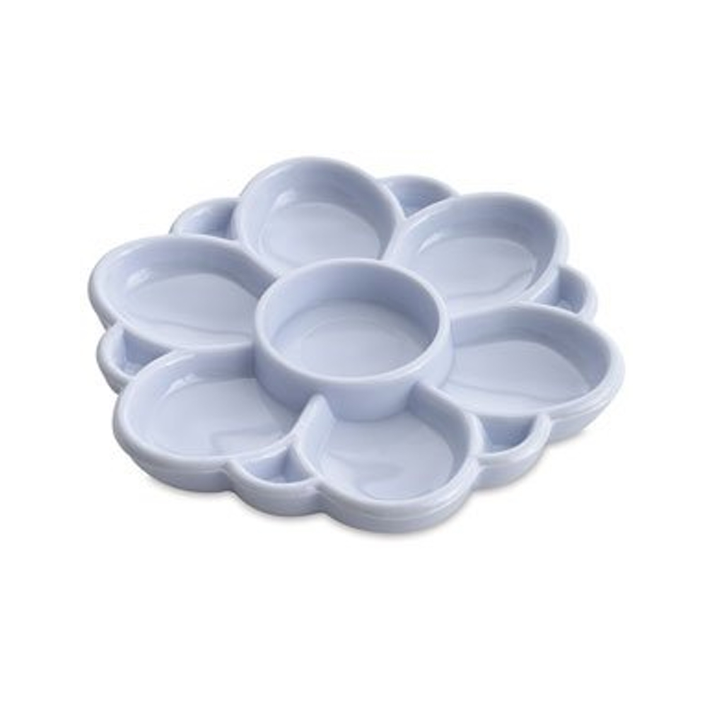 Plastic 13 Well Floral Palette Dish