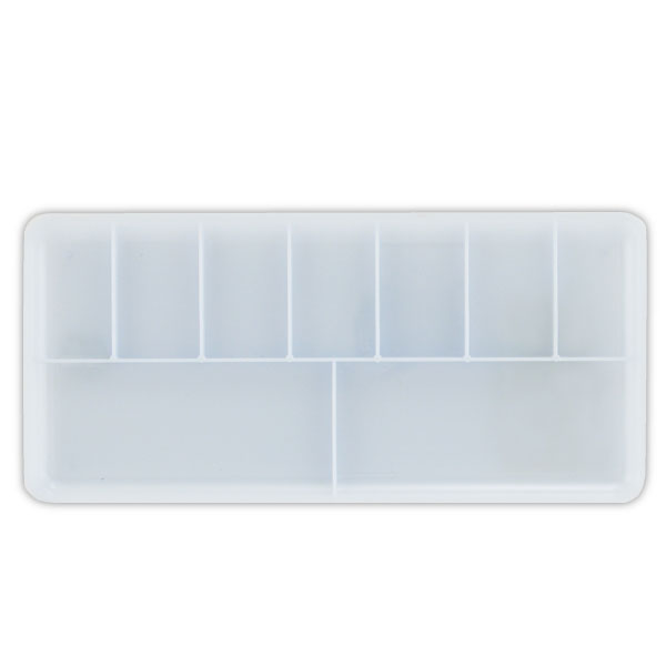 9-Well White Plastic Palette