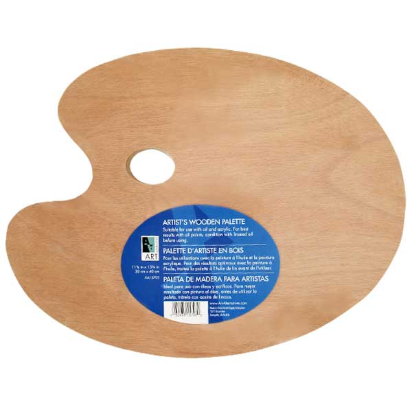 Wooden Palette 12X16 Oval