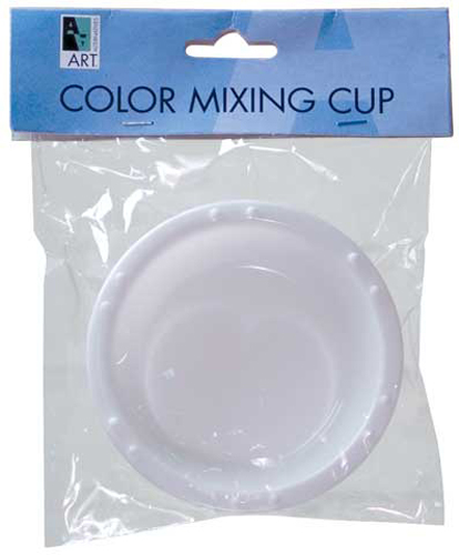 Palette Cup Round White Plastic