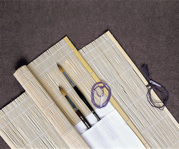 Richeson Bamboo Mat W/ Brush Holder