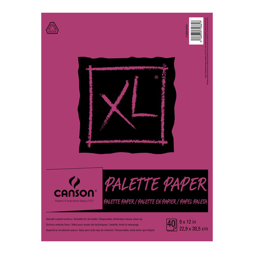 Disposable Paper Palette 40 Sht Pad 9X12