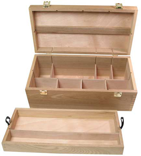 Art Alternatives Wood Box Supply Chest