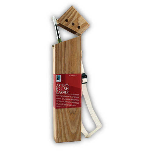 Art Alternatives Wood Box Brush Carrier