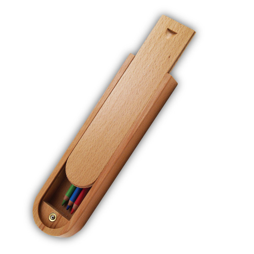 Art Alternatives Wood Box Pencil Pod