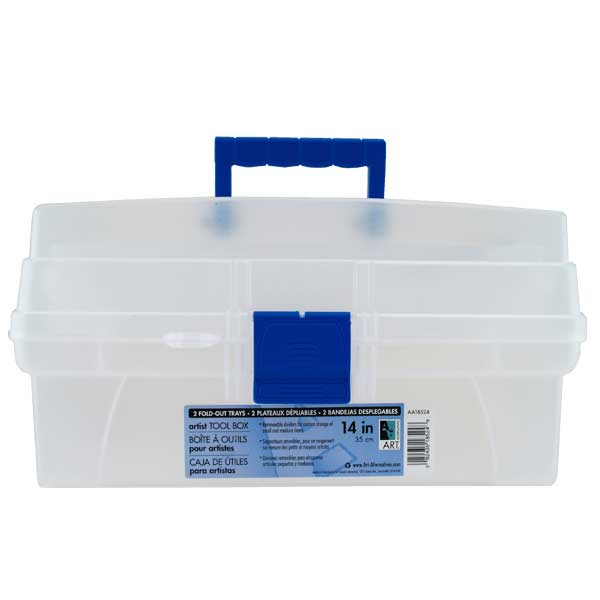 Aa Artist Toolbox 2-Tray Clear 14 Inch
