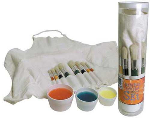 Childrens Brush And Smock Set