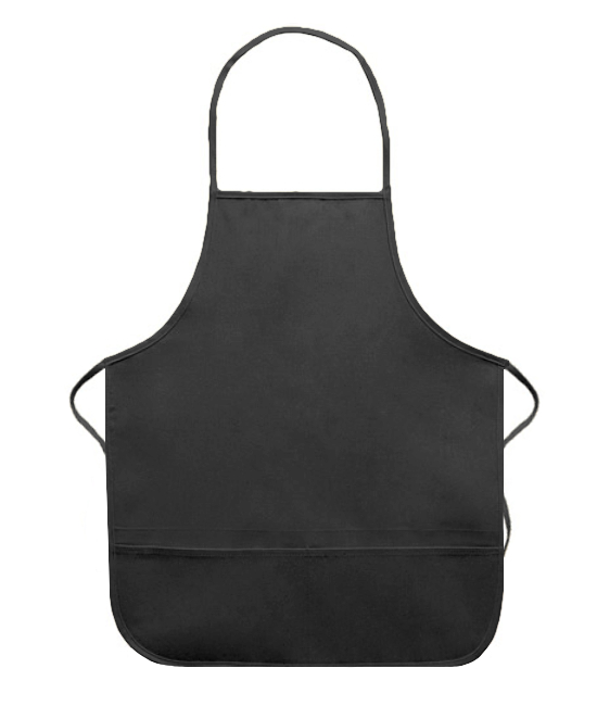 Adult Apron Black Canvas