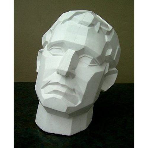 Plaster Cast Perspective Face Male
