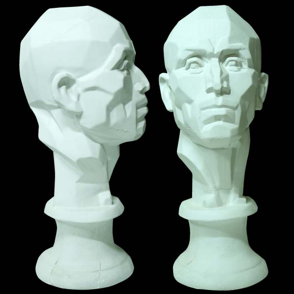Plaster Cast 21-Inch Perspective Head