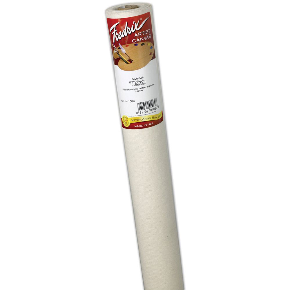 Fredrix Unprimed Canvas 568 7Oz 75Inx6Yd Roll