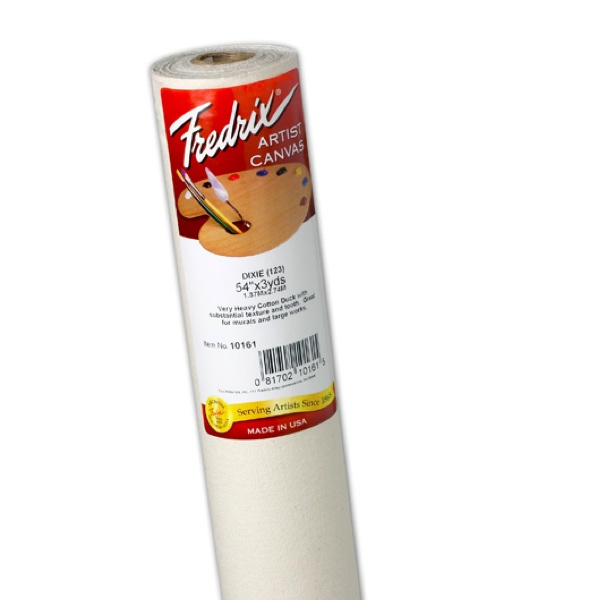 Fredrix Primed Canvas 123 12Oz 54Inx6Yd Roll