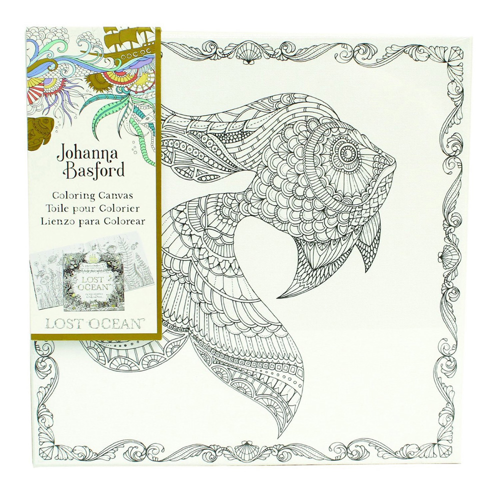 Lost Ocean Coloring Canvas Goldfish 12X12