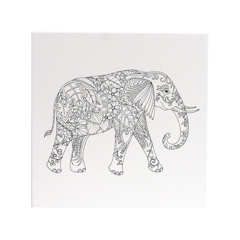 Buy Magical Jungle Coloring Canvas Elephant 12x12