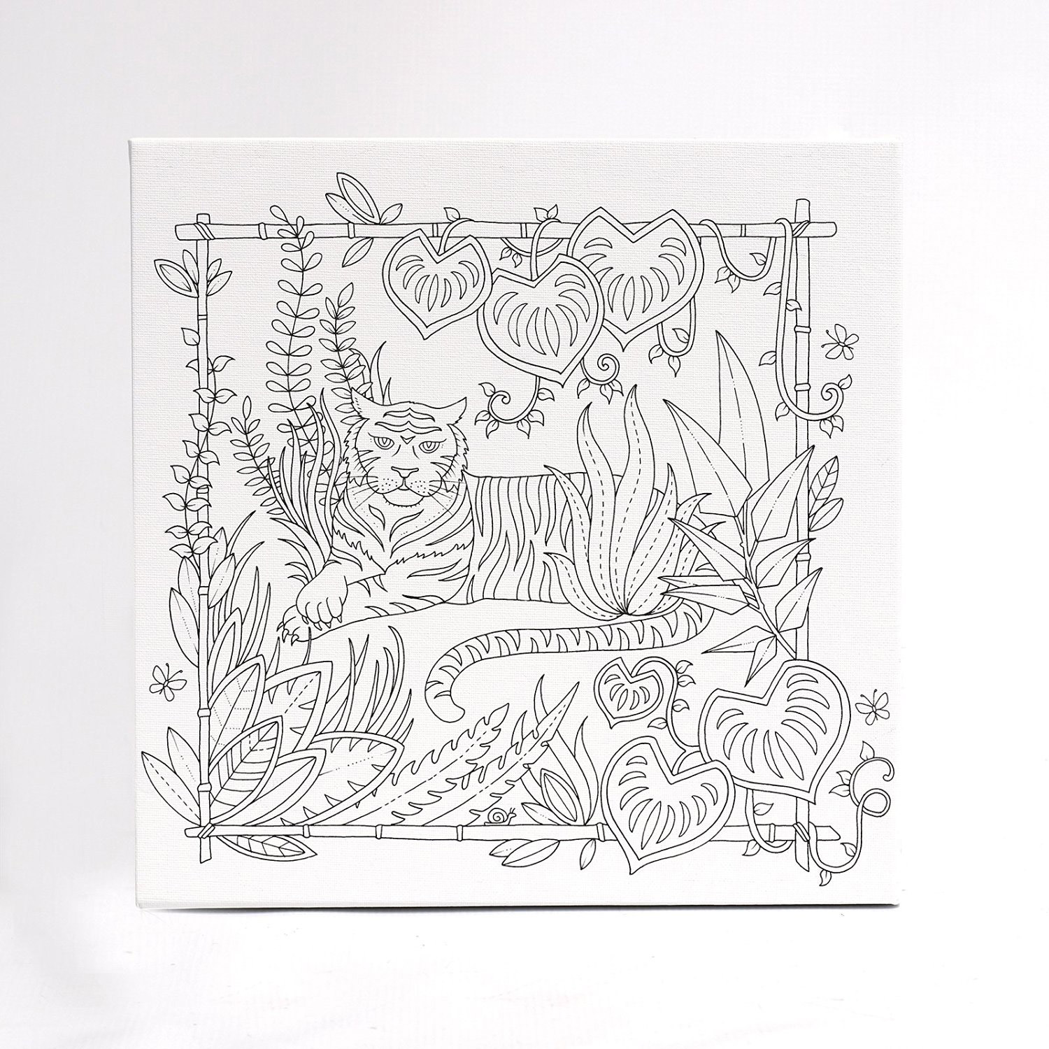 Magical Jungle Coloring Canvas Tiger 12X12