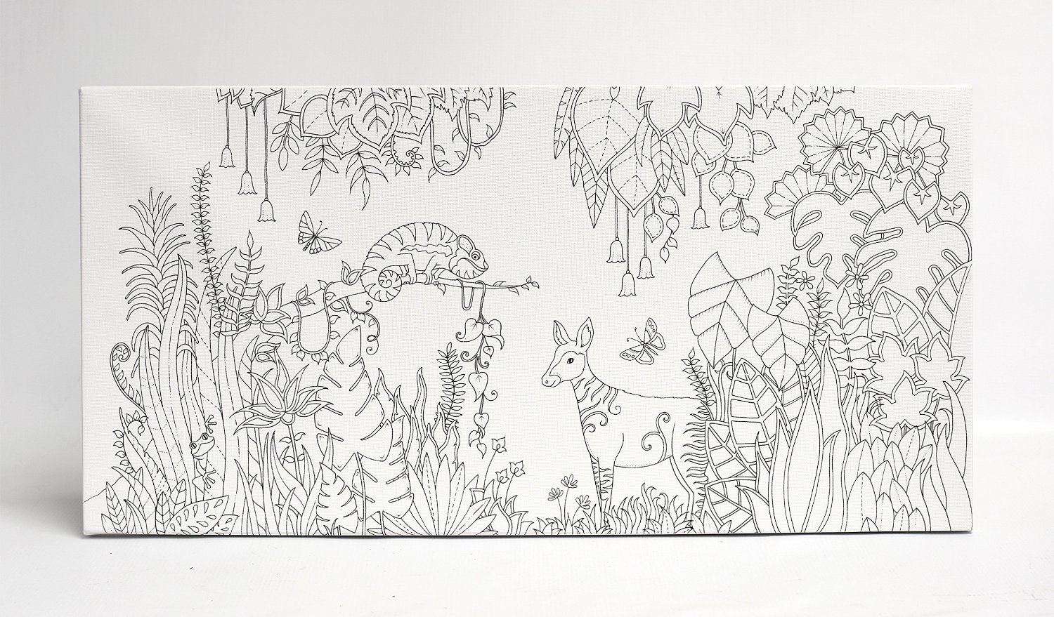 Magical Jungle Coloring Canvas Ls 12X24