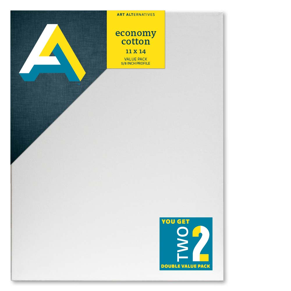 Aa Economy Stretched Canvas 2Pk 11X14