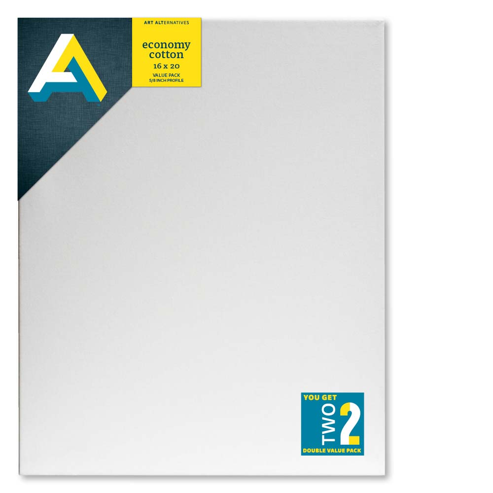 Aa Economy Stretched Canvas 2Pk 16X20
