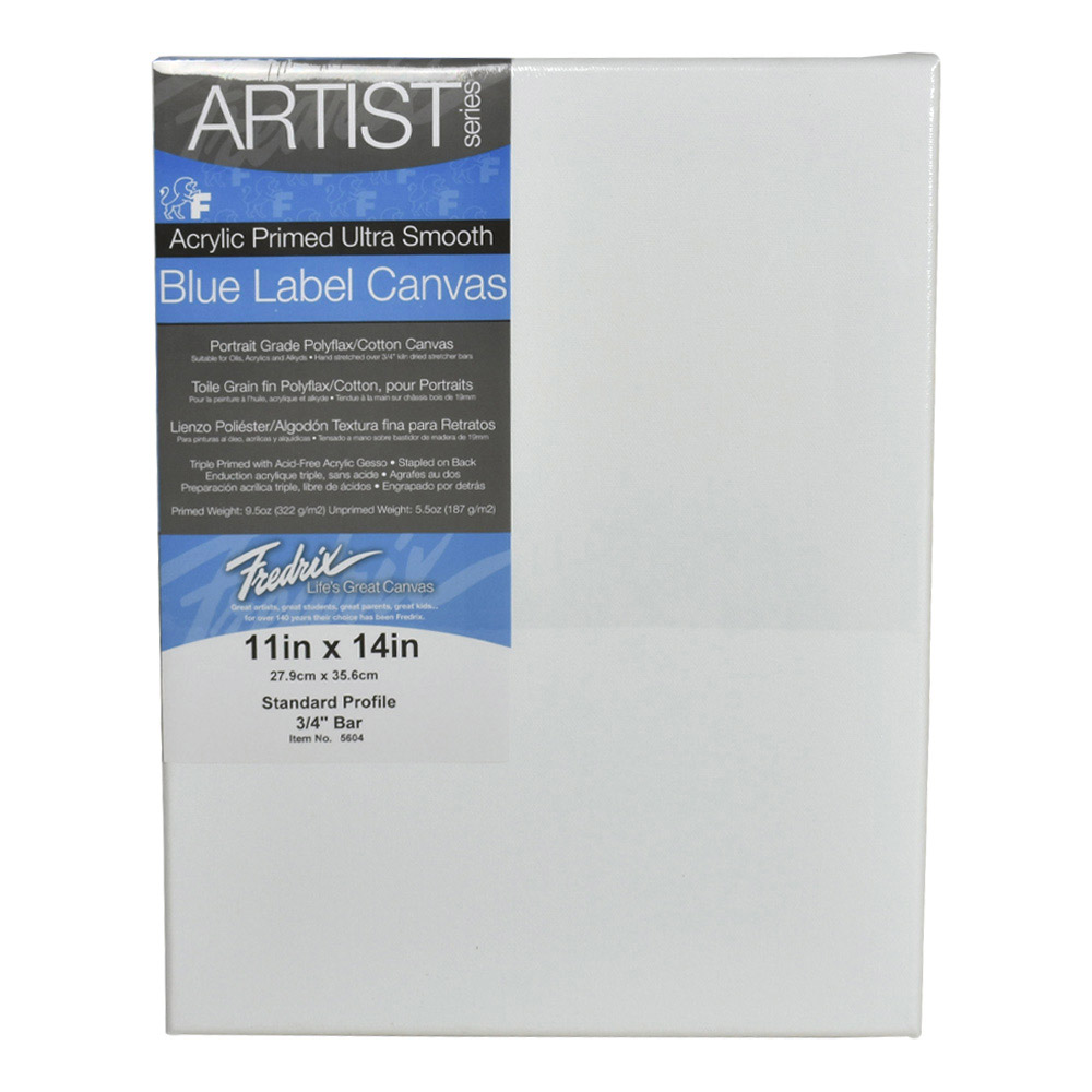 Fredrix Ultrasmooth Stretched Canvas 11X14
