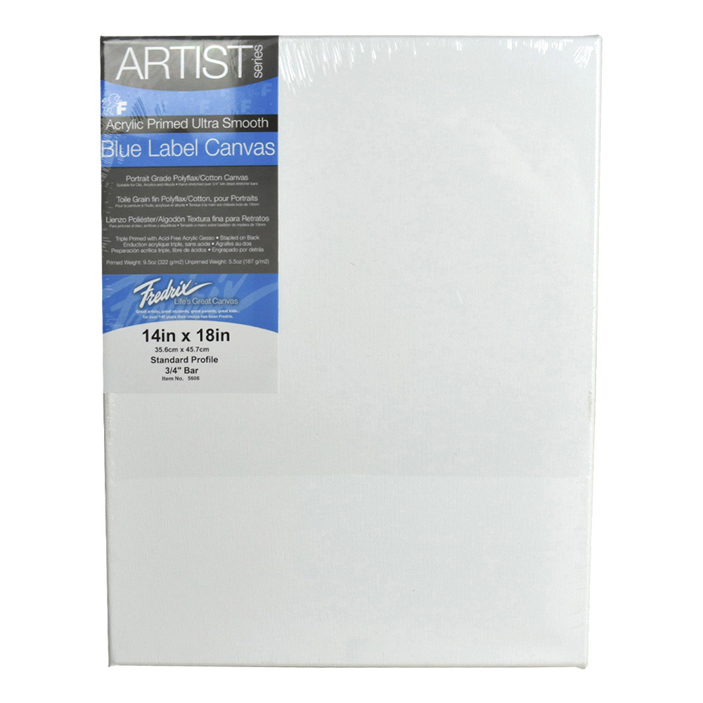 Fredrix Ultrasmooth Stretched Canvas 14X18