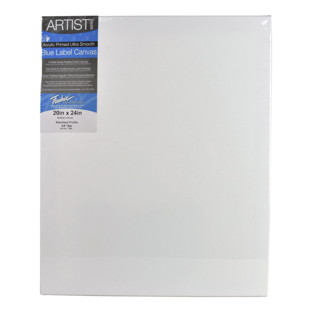 Fredrix Ultrasmooth Stretched Canvas 20X24