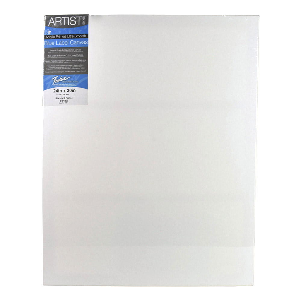 Fredrix Ultrasmooth Stretched Canvas 24X30