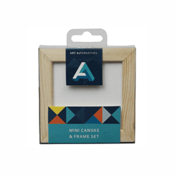 AA Mini Canvas & Pine Frame Set 3X3