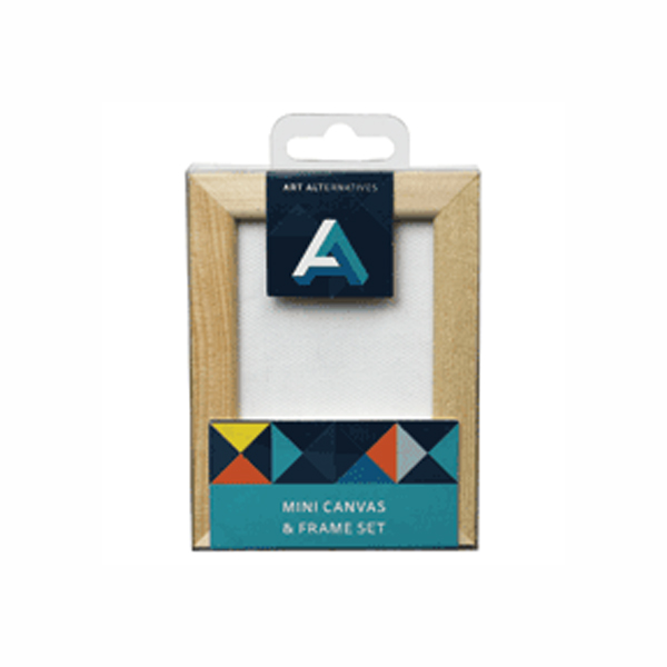 Aa Mini Canvas & Pine Frame Set 2.5X3.5