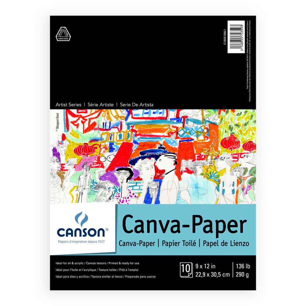 Canson Foundation Canva-Paper Pad 9X12