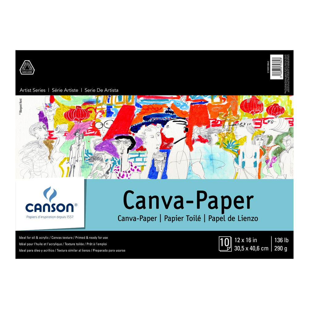 Canson Foundation Canva-Paper Pad 12X16