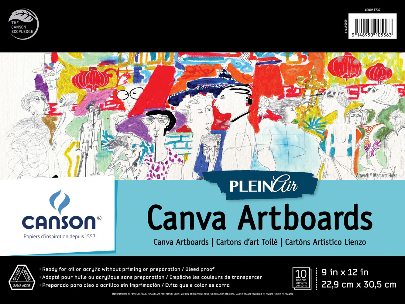 Plein Air Canva Artboard 9X12 10 Boards