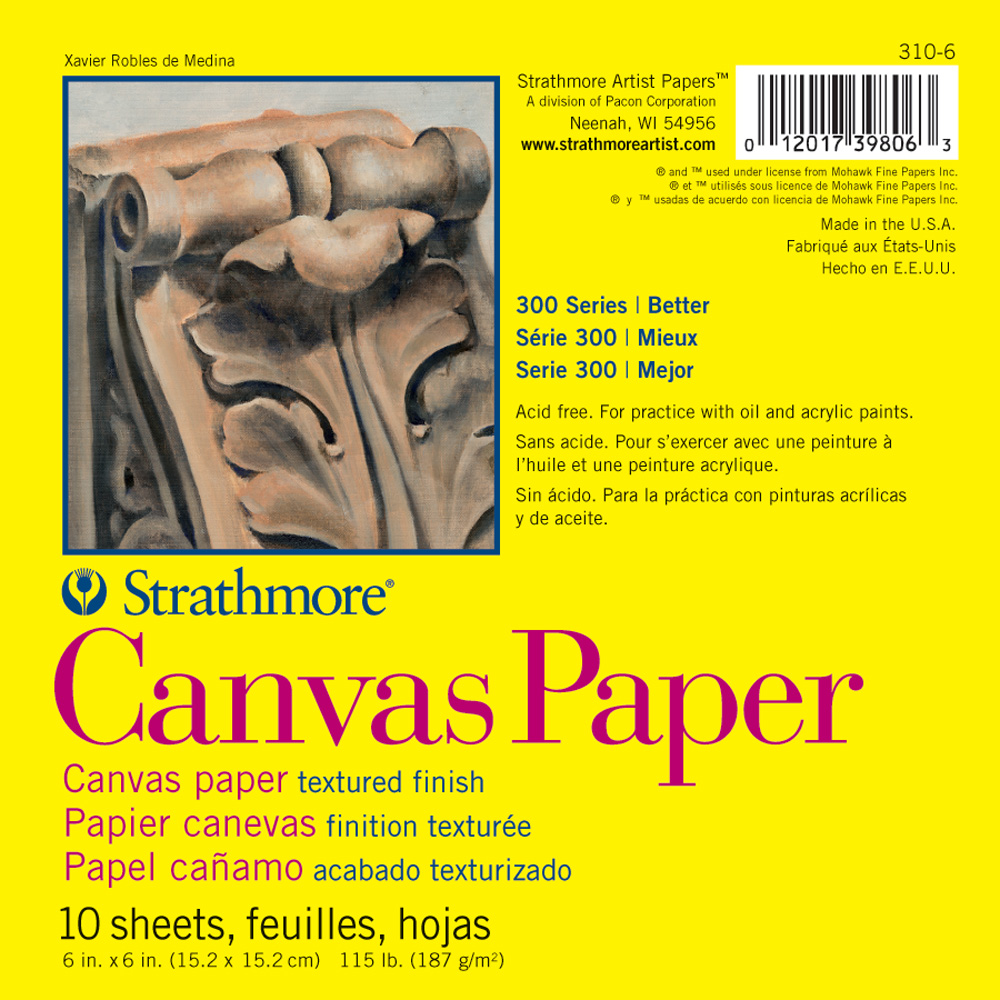 Strathmore 300 Canvas Paper Pad 6X6
