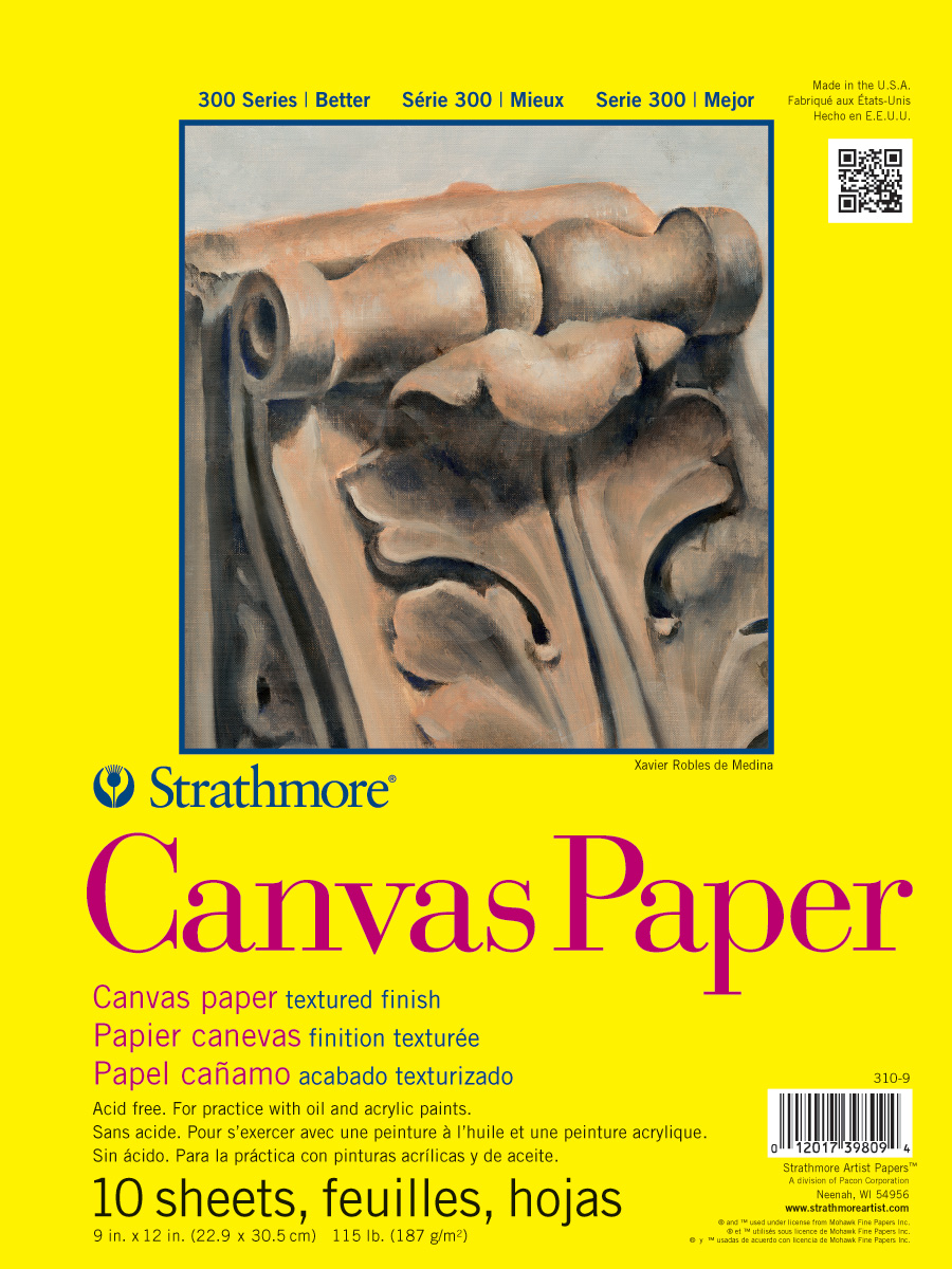 Strathmore 300 Canvas Paper Pad 9X12