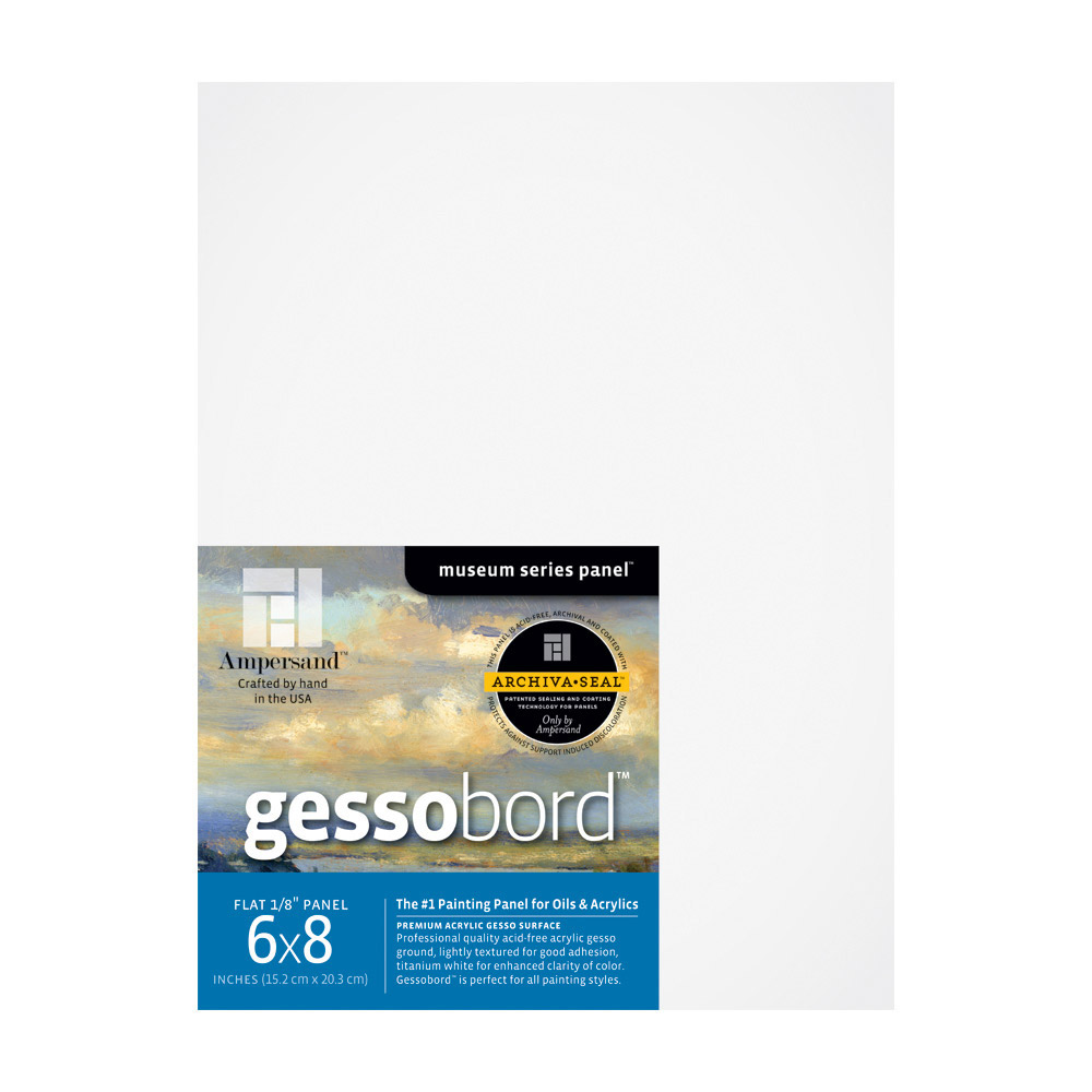 Ampersand Gessobord 1/8 Inch 6X8 Pk/3