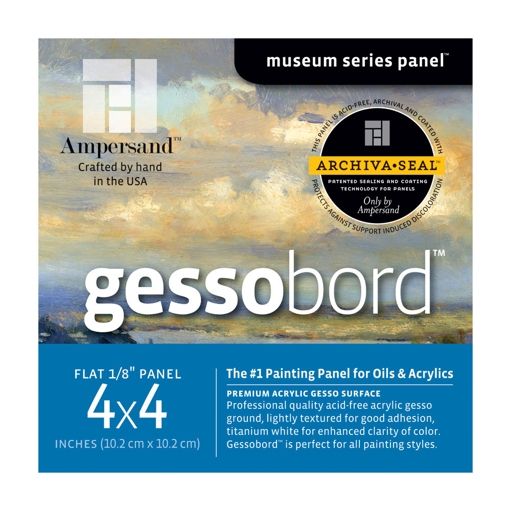 Ampersand Gessobord 1/8 Inch 5X5 Pk/4