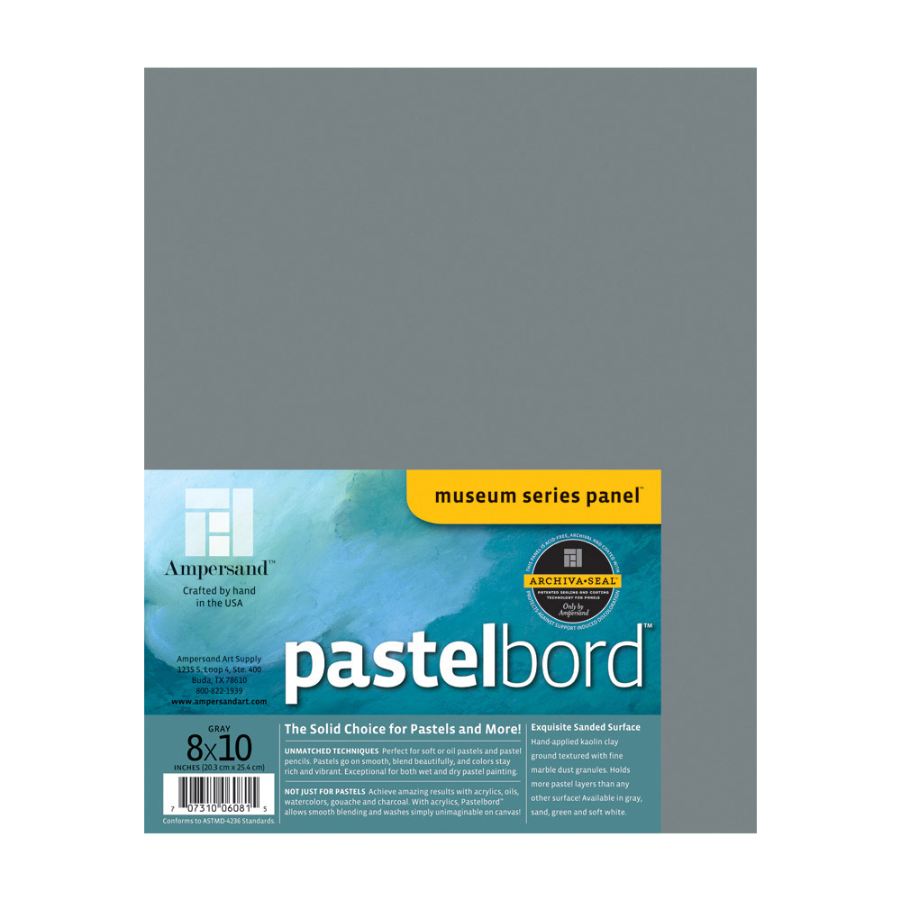 Ampersand Pastelbord Gray 1/8 Inch 8X10