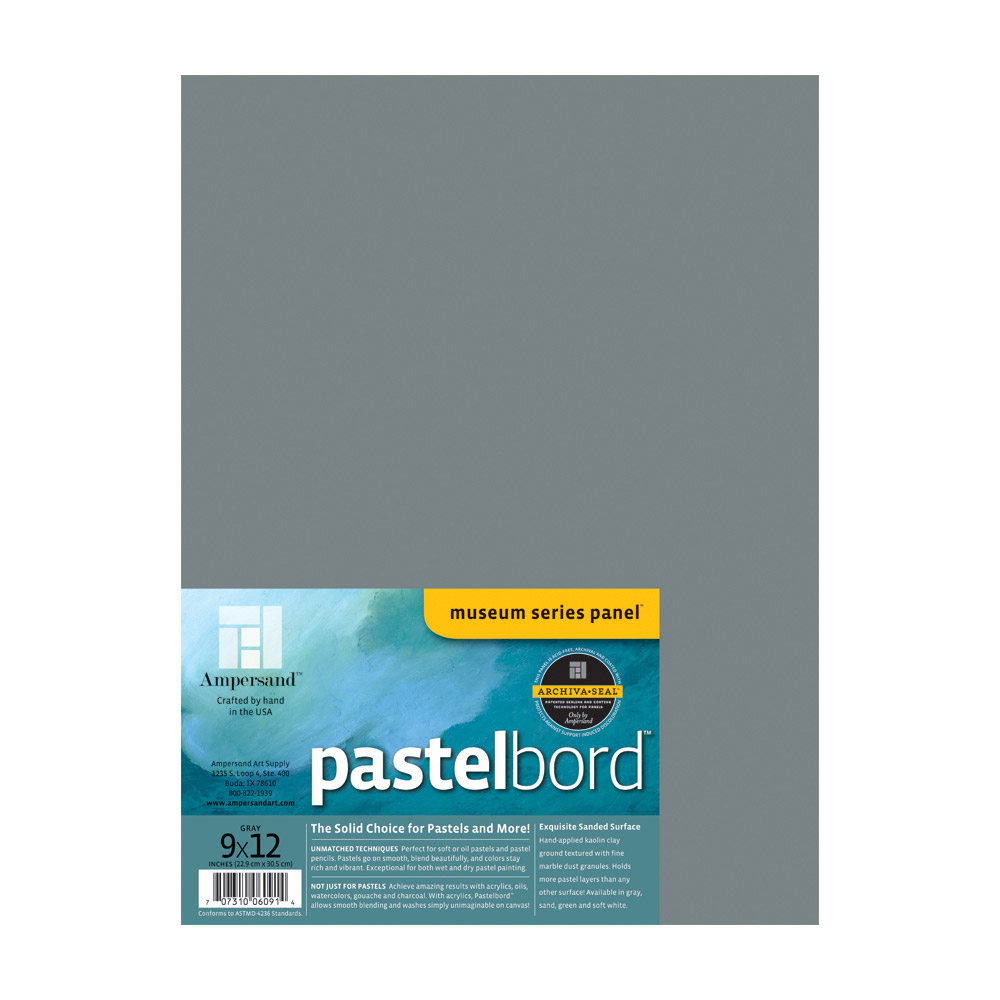 Ampersand Pastelbord Gray 1/8 Inch 9X12