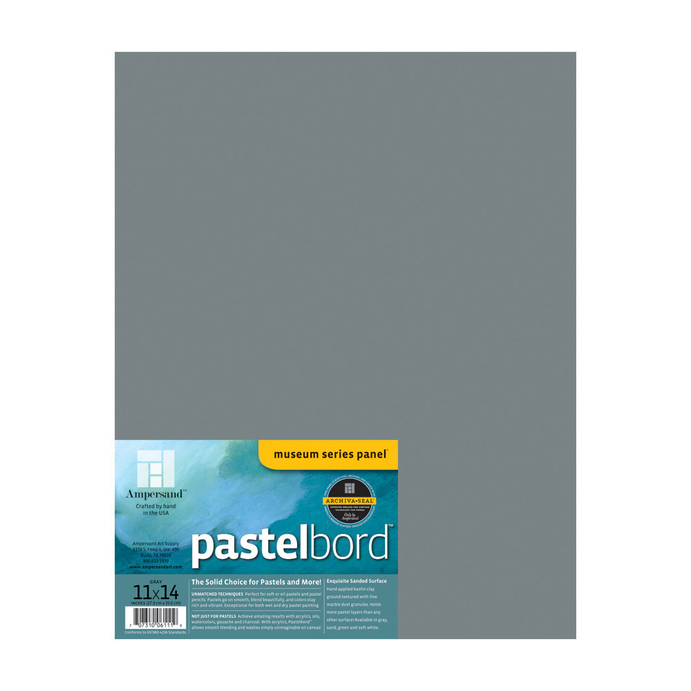 Ampersand Pastelbord Gray 1/8 Inch 11X14