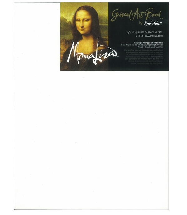 Mona Lisa Gessoed Art Board 9X12