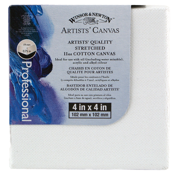 W&N Artists Stretched Canvas 4X4