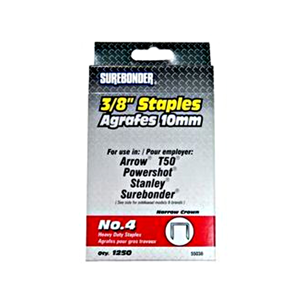 Surebonder 3/8 Heavyduty Staples Box/1250