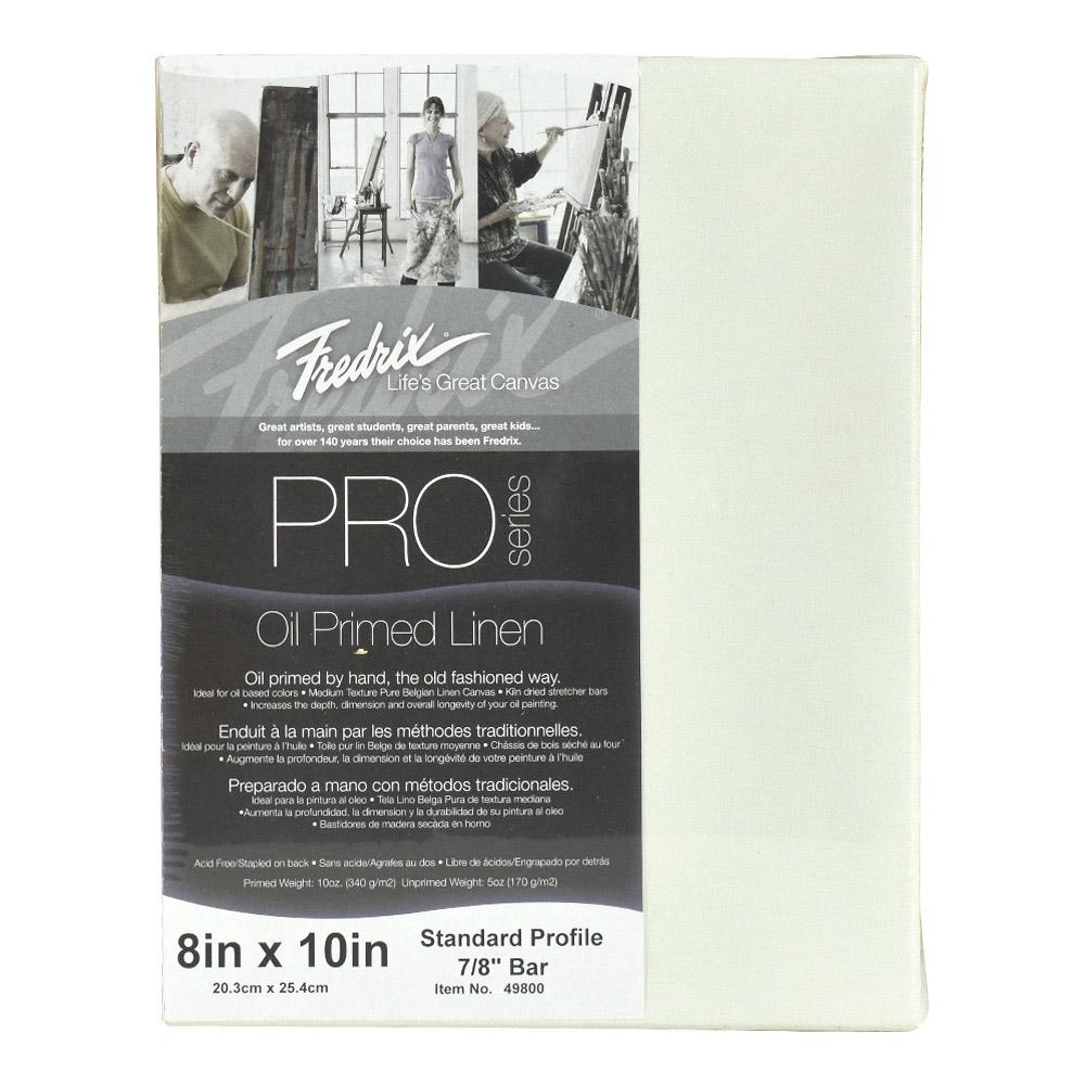 BUY Fredrix Oil Primed Linen Canvas 8X10