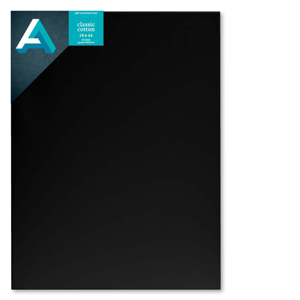 Art Alternatives Studio Canvas Black 18X24