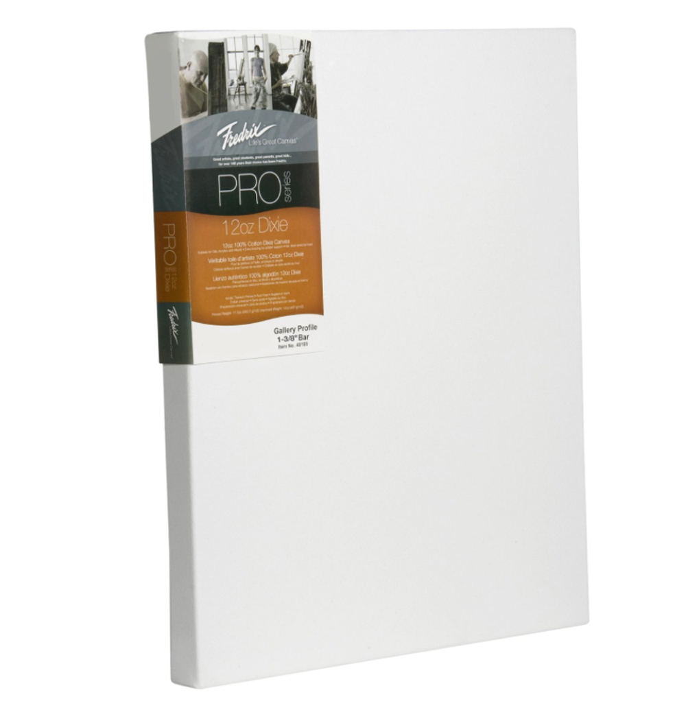 Fredrix Pro Stretched Canvas Gallery 9X12