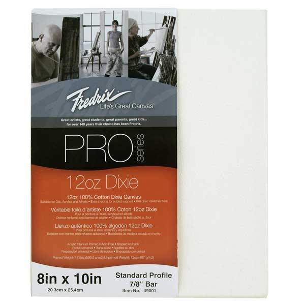 Fredrix Pro Stretched Canvas Standard 8X10